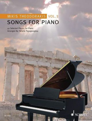 Songs For Piano, Vol.1. 40 Selected Pieces. Von Mikis Theodorakis